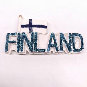 Finland Flag English Alphabet Stereo Travel Fridge Magnet Souvenir Resin Refrigerator Sticker DIY Home Kitchen Decoration Fridge Magnets