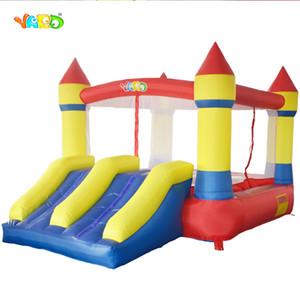 Preço de fábrica de quintal Uso de casa fácil de transportar interior inflável inflável Castelo Bouncy Casa com Dual Slide