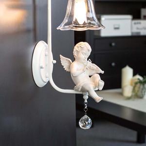 Angel LED настенный светильник Стекло Downwards Внутреннее освещение светильник Настенный светильник для Прикроватная Гостиная Спальня КОРИДОР лампы