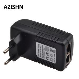 Ethernet CCTV Güç Adaptörü 0.5A 24W POE pin4 / 5 (+), 7/8 enjektör ecurity Koruma 48V PoE (-) IP kamera için IEEE802.3af ile uyumlu ...