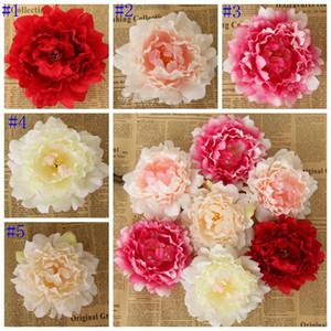 Fleurs artificielles en soie artificielle Pivoine capitules Simulation Fausse fleur de mariage décoratifs Couronnes Saint Valentin Cadeaux Flower LSK105