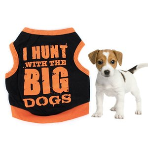 New Soft Tops Summer Cool Small Dog Printed Vest T-shirt Letter Pattern Pet Clothing Puppy Shirt