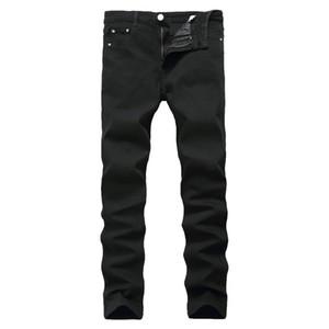 La nueva llegada de los pantalones vaqueros para los pantalones vaqueros de los hombres baratos de China Straigh Regular Fit Denim Pantalón clásico Elástico Color Negro Tamaño 28 a 42