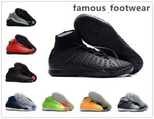 Yeni erkek yüksek ayak bileği FG Hareket Bulanıklığı futbol cleats HypervenomX Proximo II futbol çizmeler cleats Erkekler futbol ayakkabısı DF IC Ucuz futbol ayakkabı
