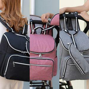 large capacity diaper Bottle backpack USB mother multi-function nursing bottle mother and baby bag diaper bag baby carriage backpack
