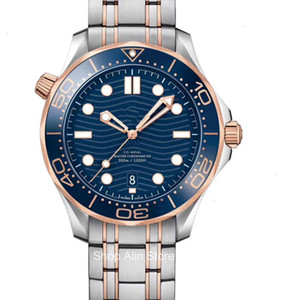 Hot Vendas Series hipocampo Luxo Masculino Relógio Homens Automatic Relógios Designer Movimento 300M Assista fecho dobrável de pulso