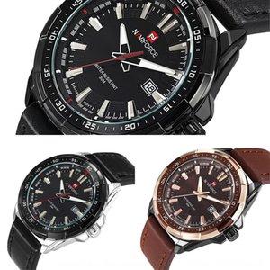 ling xiang naviforce leather belt calendar sports Watchband men men's Leather strap watch men watch