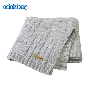 Baby Blankets Knitted Newborn Bebes Stroller Bedding Sleep Cover 100*80cm Solid Infant Swaddle Wrap Blanket Quilt Multi-Function CX200704