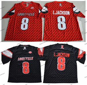 2018 Universidade Red Louisville Cardinal Lamar Johnson College Football Jerseys barato 8 Lamar Johnson L.Johnson camisas de futebol