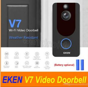 2019 EKEN V7 HD 1080P سمارت هوم فيديو الجرس كاميرا لاسلكية واي فاي في الوقت الحقيقي سحابة الهاتف الفيديو تخزين للرؤية الليلية PIR كشف الحركة