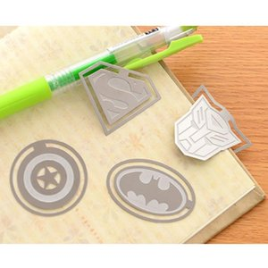 Studenten Metall Lesezeichen Superheld Liga Cartoon Kreative Batman Hohl Gold Lesezeichen Schulbedarf Schreibwaren Party Kind Geschenk BC BH1433