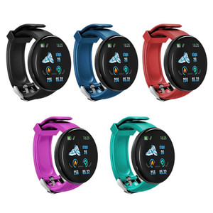 Mais barato D18 Pressão inteligente Pulseira de Fitness Rastreador relógio inteligente Sangue Pulseira IP65 Waterproof Heart Rate com Retail Box