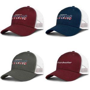 Rickenbacker Guitars USA Drapeau des hommes et des femmes réglable camionneur équipe sportive design meshcap meilleures baseballhats Logo Blanc Marbre Pierre