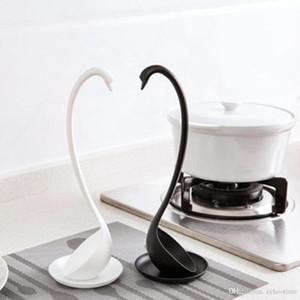 Tepsi Mutfak bulaşığı Araçlar Pişirme Uzun Yaratıcı Swan Çorba Kaşığı Uzun Sap Lapa Canavar Kaşık