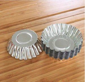 Экология Кухня MINI Одноразовой цветок стиль Алюминиевая фольга кекса Muffin чашка Яйцо Пирог Кубок Яйцо Tart Mold 100шт