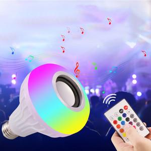 LED RGB-Farben-E27 Wireless Control Smart-Musik Stereo-Audio-Lautsprecher warmes Licht Farbwechsel-Lampen-Birnen-Licht-Lautsprecher-Glühlampe