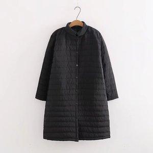Olgitum 2019 kadın Kış Bahar Hafif Pamuklu Ceket Ceket Artı Uzun Artı Yağ Artı Boyutu Cc567 Y190828