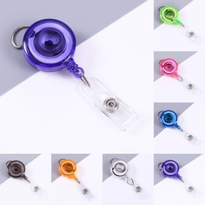 DHL shipping Nurse Badge Reel Retractable ID Card Badge Holder with Clip Name Nurse Decorative Badge Reels Clip Anti-lost Keychain L278FA