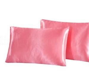 nachgeahmter Seidenstoff-Kissenbezug Bedding Pillowcase glatt Startseite Silk Satin-Kissenbezug Bedding Pillowcase Hauptdekor LJJK1795