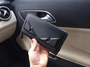 2019 패션 교차 - 지갑 남자의 카드 지갑 지갑 가방 카드 홀더 화니 스타일 지퍼 긴 전화 클러치 백 지갑 9015 19x10cm