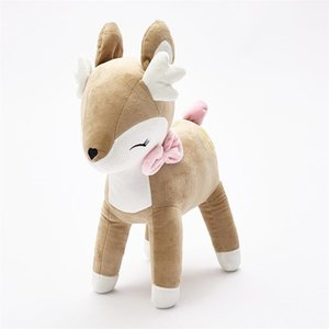 Lovely Sika Deer Toy Pp Cotton Stuffed Plush Animal Doll Soft Novelty Child Toys Fit Children Room Decoration 35cm 28zl E1