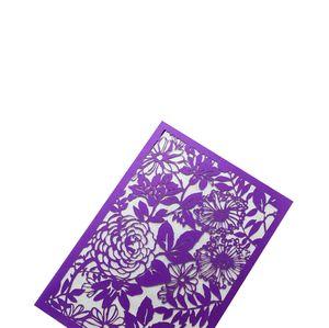 Envío gratis Laser Cut Paper Flowers Leaf Pattern Hollow Out Wedding Business Party Tarjeta de invitación con papel en blanco Hoja en blanco