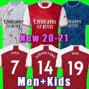 아르센의 축구 유니폼 (20) (21) PEPE SAKA NICOLAS 세발 로스 HENRY GUENDOUZI 소 크라 티스 MAITLAND - NILES 티어니 2020 2021 축구 셔츠 남성 + 어린이 키트