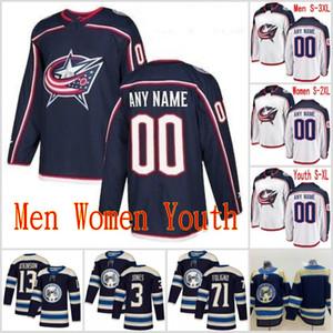 해군 다른 사용자 정의 남성 여성 청소년 콜럼버스 블루 재킷 캠 앳킨슨 닉 폴리 뇨 세르게이 보브 로브 키 하키 유니폼은 S-3XL 스티치
