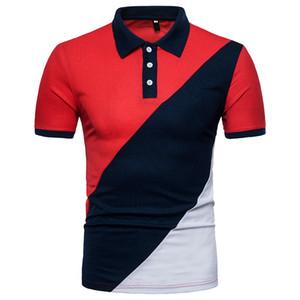 ZYFG marca hombre libre de la camisa ocasional del verano de tres colores del remiendo de los hombres de la camisa de manga corta de la UE libera la nave de gran tamaño