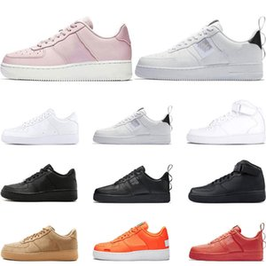 2020 Men 1 Classic Black White Women Casual Shoes Red Skateboarding High Low Cut Wheat Trainer Sports Sneaker Size Eur 36-45
