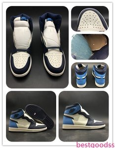 1 Obsidian Sneaker Court Purple Travis Scotts X 1s High OG TS SP mens athletic shoes Basketball Footwear With Free Shippment