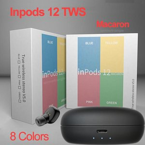 Auscultadores sem fios Bluetooth inpods12 F3 TWS inpods 12 Macaron V5.0 Stereo telefone celular fones de ouvido Sports Sweatproof Headphone Toque Earbuds