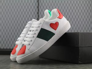 2019 New Men Sneakers Günlük Ayakkabılar Moda Spor Eğitmenler Yüksek Kalite Kırmızı Yeşil Çizgili Chaussures Hommes dökün