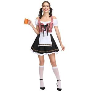 ZACOO femmes Oktoberfest Style Fashion Maid robe costume Bière Festival Robe Costume