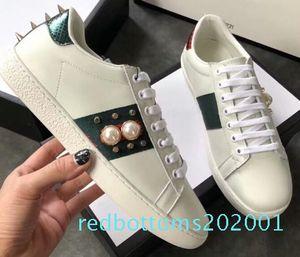 tamaño grande de calidad superior US5-US13 blanca zapatos de las mujeres negras de cuero del diseñador de zapatos ace hombre más zapatos casuales tamaño de lujo con bolsa de polvo de la caja AF26