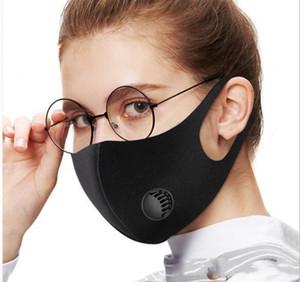 Lavabile Maschera antipolvere Filtro PM2.5 Inquinamento Inverno Bocca riutilizzabile con la respirazione valvola Haze polvere lavato Uomini Donne