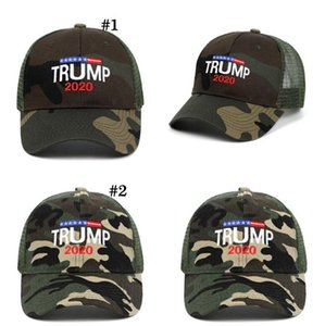 Donald Trump 2020 Cap Camouflage Baseball Caps 3D Embroidery Letter Outdoor Sports Sun Hat Party Hats OOA8046
