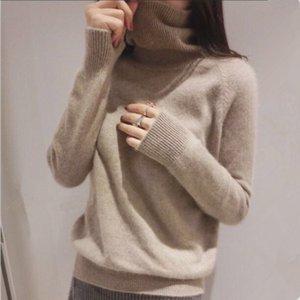 Gejas Ainyu 18autumn Winter Maglione di cachemire femminile Pullover Collo alto Collo alto Maglione Donna Solid Color Lady Maglione di base