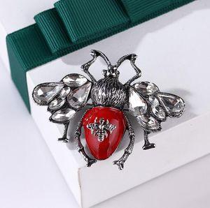 Retro Moda Crystal-Nuovo di marca Spilla Insetto Ape Vintage Suit Lapel Pin per partito regalo marca famosa Jewelry trasporto veloce