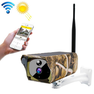 VESAFE VS-Y4 Maple Leaf Pattern 1080P HD Battery Solar WiFi IP Camera, Support PIR Motion Detection & Infrared Night Vision & TF Card