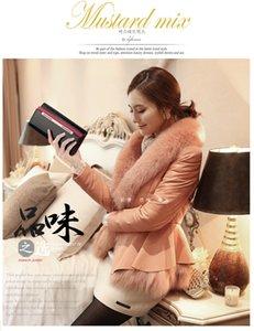 Charm2019 Modello Portafoglio donna coreana in vera pelle di vacchetta da donna in vera pelle con la marea