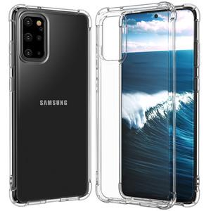 Esquinas del amortiguador de aire transparente a prueba de golpes suaves de silicona TPU Funda para el Samsung Galaxy S20 S10 Ultra E S9 S8 Nota 10 Plus 9 M10 M20 M30