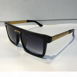 Luxury 0078 Sunglasses For Men Fashion Brand Design Wrap Sunglass Square Frame UV Protection Lens Carbon Fiber Legs Summer Style Top Quality