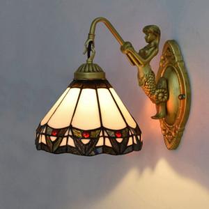 Wall Light Lampada da parete Soggiorno Vintage Stained Glass Sconce Illuminazione per il Corridoio Camera Ristorante Bar Lamp
