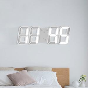 Hot! 3D LED Modern Digital Table Watch Desktop Alarm Nightlight Saat Wall Clock For Home Living Room T200601