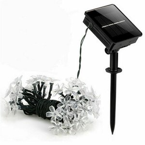 50 LED Solar Powered Environmental Friendly Fairy String Flower Lights Outdoor Garden Wedding Xmas 2019