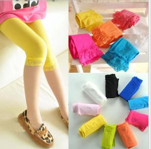 12 Colors Sweet Girl's Lace Velvet Leggings Ballet Bottom Leggings Girl's Children Cotton leggings