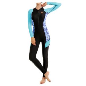 6 Tailles Femme Maillot de bain néoprène Combinaison de manches longues Respirant Séchage rapide Isolation