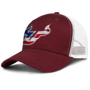 사우스 플로리다 불스 3D 효과 깃발 로고 남성과 여성 조절 트럭 MESHCAP 디자이너 장착 팀 최고의 baseballhats 축구 화이트