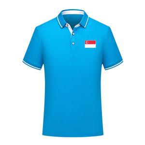 Singapur 2020 Nationalmannschaft Sommerbaumwollfußballpolohemd Männer kurze Ärmel Revers Polo Fußball Männer Polohemd Training Jersey Herren Polos